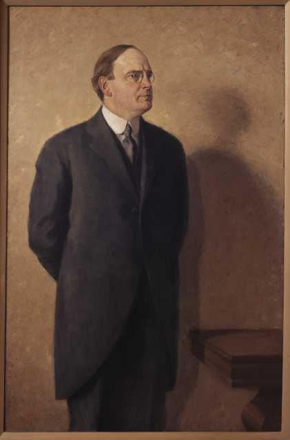 Official portrait of Minnesota Governor J. A. A. Burnquist, 1919. Painted by Carl A. Bohnen.