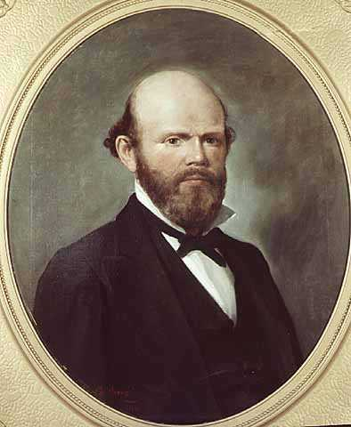 Color image of an oil on canvas painting of William Rainey Marshall, 1881.