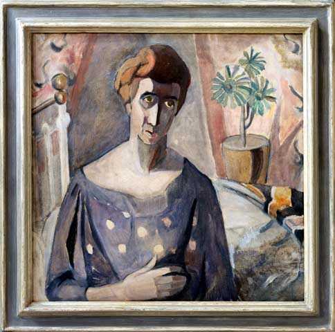 Clara Mairs' Self Portrait, 1960. Oil on canvas by Clara Mairs.