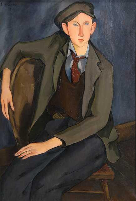 """Portrait of Boy,"" oil-on-canvas painting by Elof Wedin, 1931."