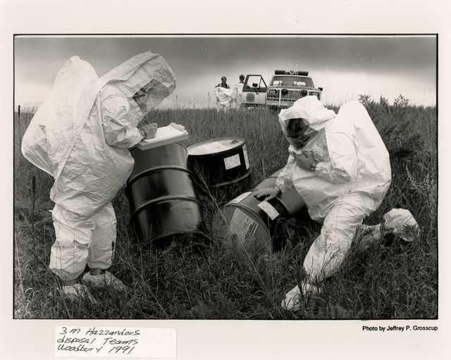 3M hazardous material disposal team