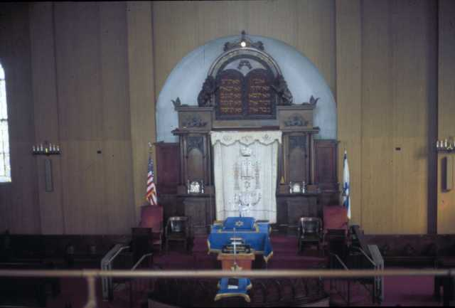 Color photograph of the interior of Adas Israel Congregation in Duluth. Photograph by Phillip Prowse c.2010.