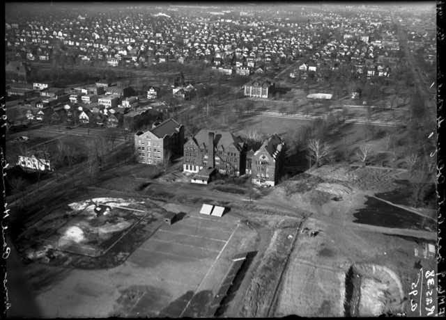 aerial photograph of Macalester College campus, 1921
