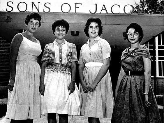 Black and white photograph of Sons of Jacob Temple Queens.