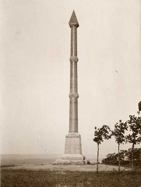 Birch Coulee Monument in Renville County, c.1900.