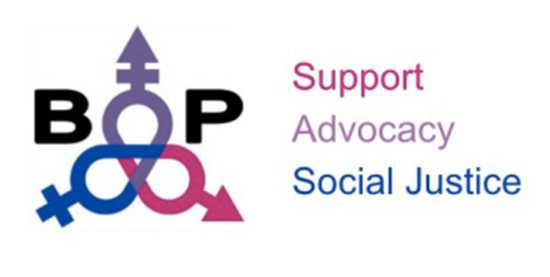 Bisexual Organizing Program (BOP) logo