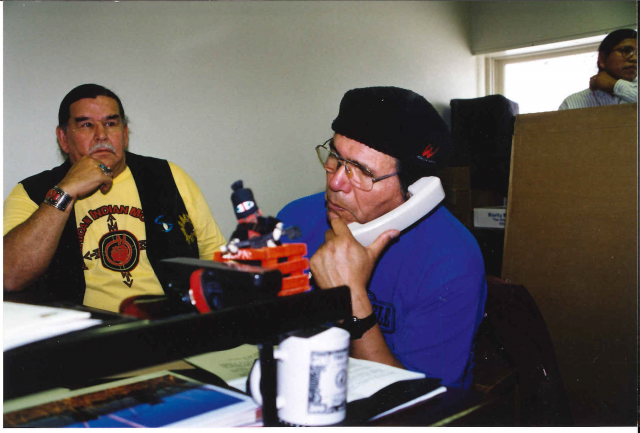 Clyde Bellecourt and Dennis Banks