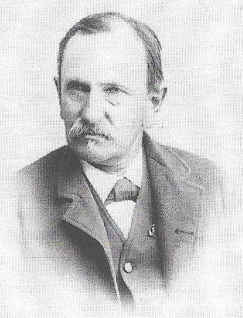 Black and white photograph of Julius Berndt, ca. 1890.