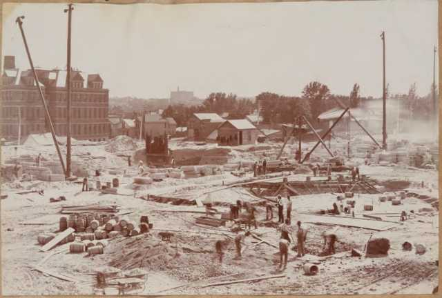 Capitol basement and foundation construction