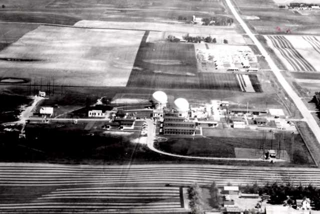 Aerial view of US Air Force Base near Chandler, ca. 1950s.