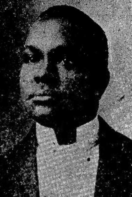 Black and white newspaper image of Charles H. Miller, c.1917.
