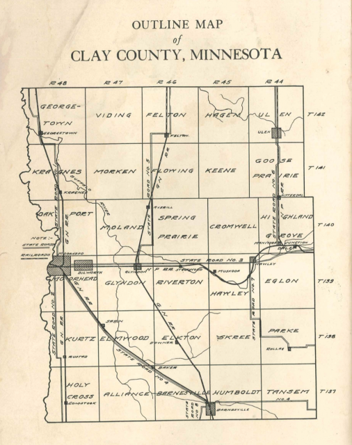 Map of Clay County