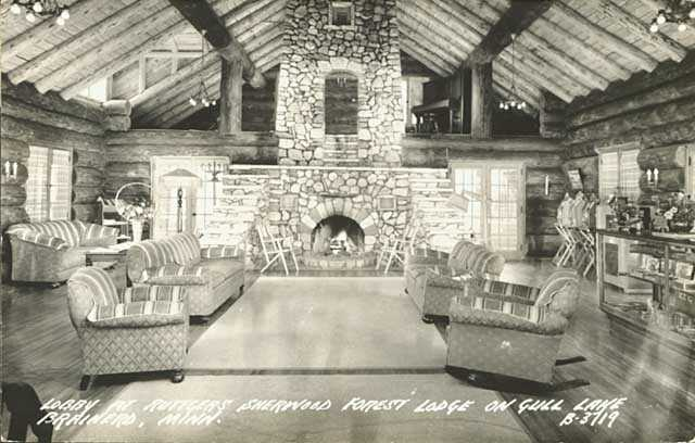 The lobby of Sherwood Forest Lodge