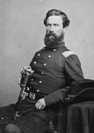 Black and white photograph of Colonel George N. Morgan, 1863. Morgan was the second commandant of Fort Snelling during the Civil War.