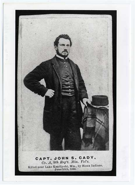 Photograph of John S. Cady, Captain, Eighth Minnesota Infantry, Company A