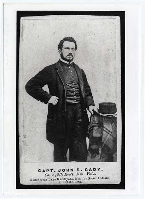 Photograph of John S. Cady, Captain, Eighth Minnesota Infantry, Company A
