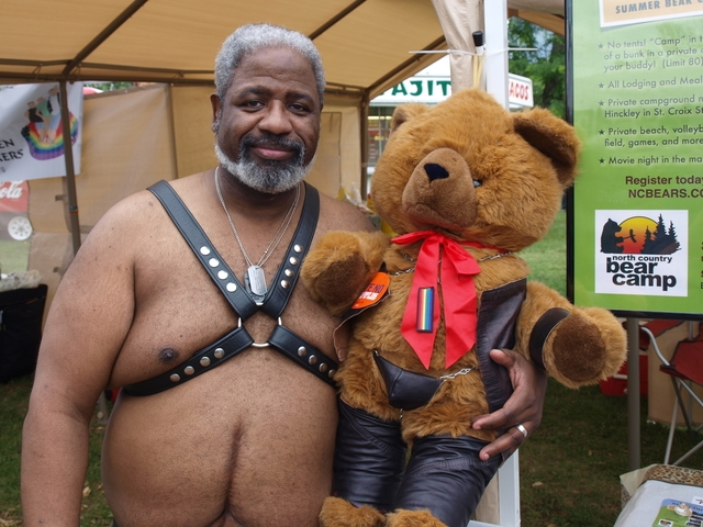 North Country Bears teddy-bear mascot and a sub friend