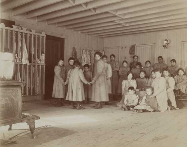 native american boarding school students mnopedia