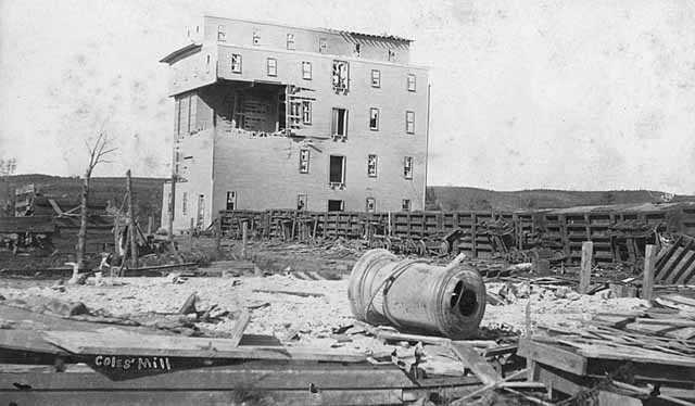 Cole's Mill after cyclone, Rochester.