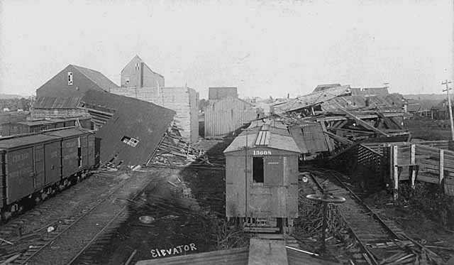 Elevator after cyclone, Rochester.