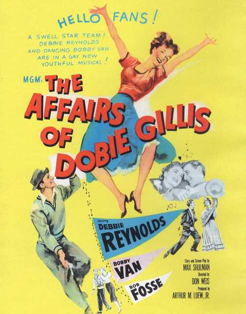 Poster for The Affairs of Dobie Gillis, the 1953 film adaptation of the novel of the same name by Max Shulman.