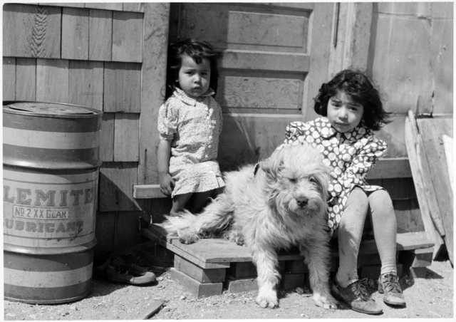 Children at Lower Sioux Indian Community, Minnesota, 1940