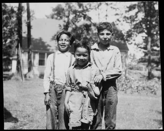 Ojibwe boys at Mille Lacs Indian Reservation