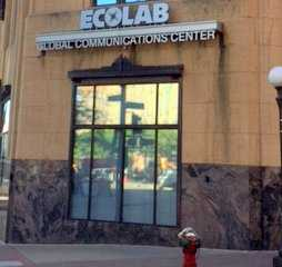 Color image of the front façade of the Ecolab building in St Paul, 2016.