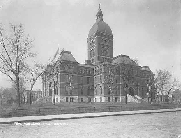 Black and white photograph of State Capitol, c.1900.