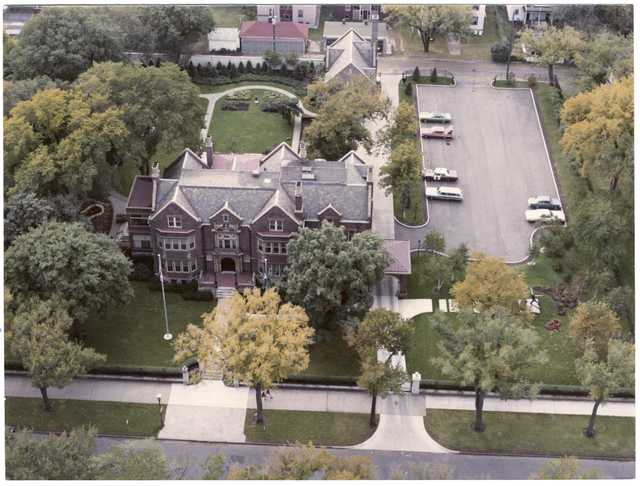 Aerial view of the governor's residence