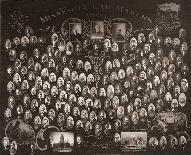 Group photograph of the Minnesota state legislature, 1903. Photo by Harry Shepherd.