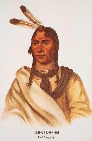 Color print of the Dakota leader Ishtakhaba (Sleepy Eye)