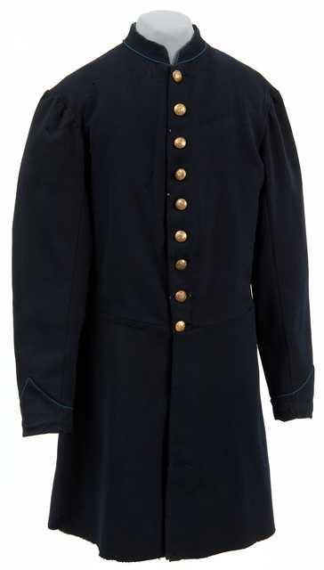 "Blue wool ""nine-button"" Civil War frock coat"