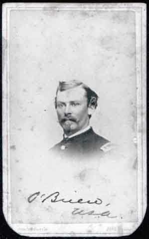 Portrait of Henry D. O'Brien, First Lieutenant, First Battalion, Minnesota Infantry Volunteers