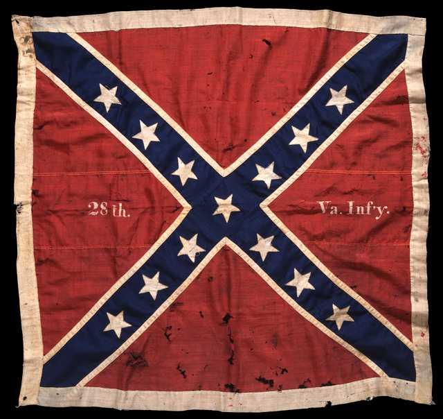 Battle flag of the Twenty Eighth Virginia Volunteer Infantry Regiment Ishxz9i6