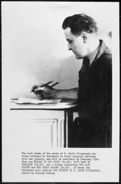 F. Scott Fitzgerald at desk