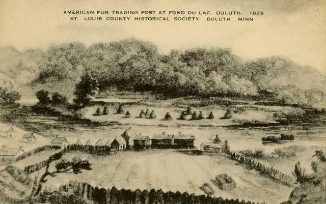 American Fur Company trading post at Fond Du Lac, Duluth