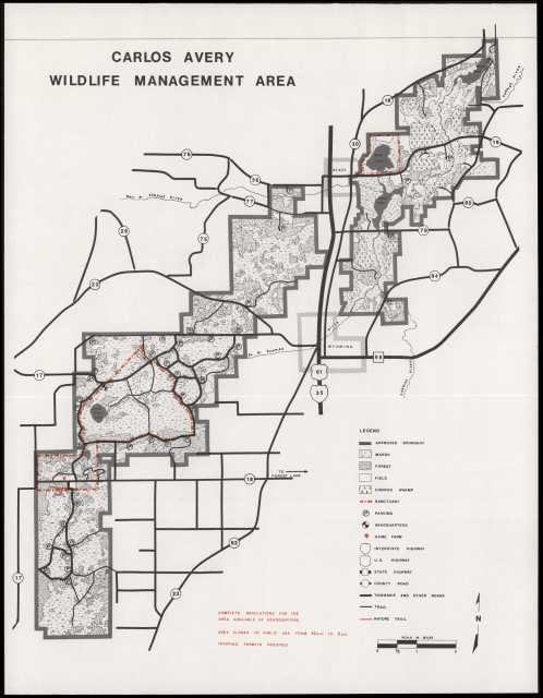 Map of the Carlos Avery Wildlife Management Area | MNopedia