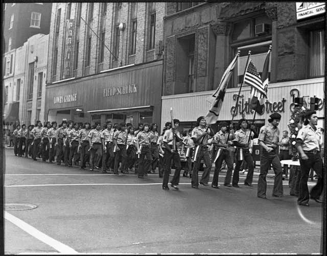 Brown Berets marching in Mexican Celebration Parade