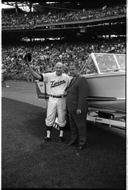 Calvin Griffith and Harmon Killebrew at Metropolitan Stadium