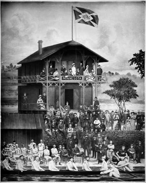 Minnesota Boat Club, ca. 1885. Photograph by Charles A. Zimmerman.