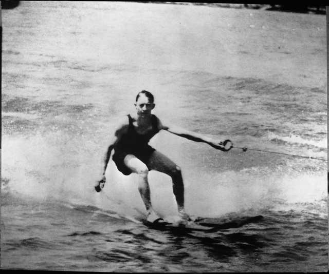 Ralph Samuelson, 1925. Samuelson, an eighteen-year-old from Lake City, Minnesota, is credited with inventing water skiing on Lake Pepin in 1922.