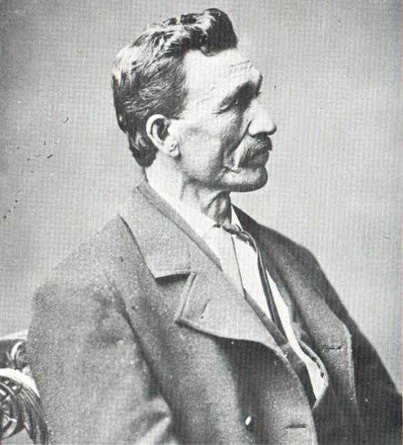Black and white photograph of Gabriel Renville in Washington D.C., ca. 1880–1881.