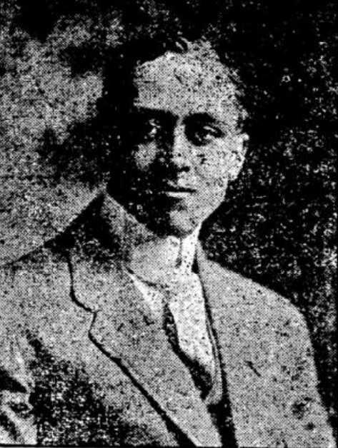 Black and white newspaper image of Gale Pillsbury Hilyer, c.1919.