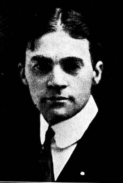 Black and white newspaper image of George W. Holbert, c.1911.