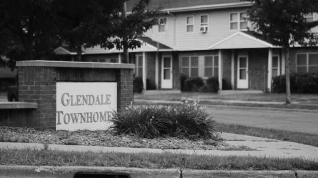 Glendale Townhomes in the Prospect Park neighborhood of Minneapolis. Photographer and date unknown. Film still from Interstate 94: A History and Its Impact (Twin Cities PBS, April 1, 2017), 17:42.