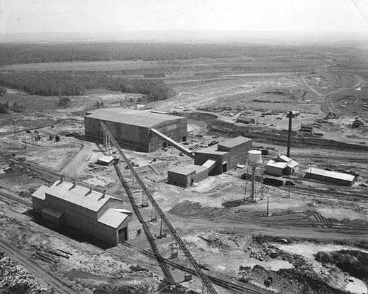 Pilotac, an experimental taconite concentrating plant built by the Oliver Mining Division of United States Steel. The plant went into operation at Mountain Iron in 1953 as Minnesota Ore Operation's Minntac plant.