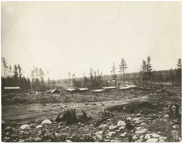 First mine on the Mesabi Range, near Mountain Iron, ca. 1892.