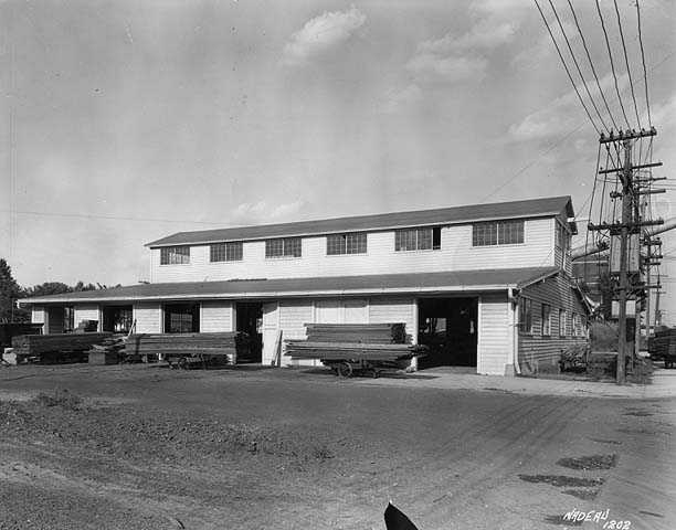Black and white photograph of the St. Paul branch of the Weyerhaeuser Company, ca. 1935.
