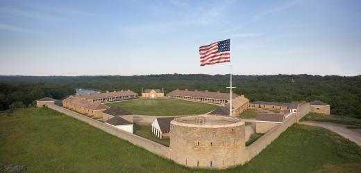 Color image of restored Historic Fort Snelling, c.2008.